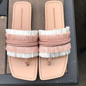 NWOT Sigerson Morrison Fringe Thong Sandals